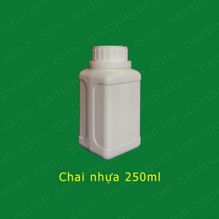 chai nhựa 250ml đựng thuốc bảo vệ thực vật 8