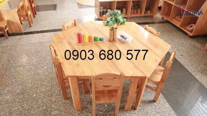 Cần bán bàn ghế gỗ trẻ em cho trường mầm non, lớp mẫu giáo, gia đình2