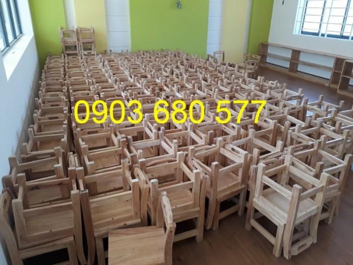 Cần bán bàn ghế gỗ trẻ em cho trường mầm non, lớp mẫu giáo, gia đình8