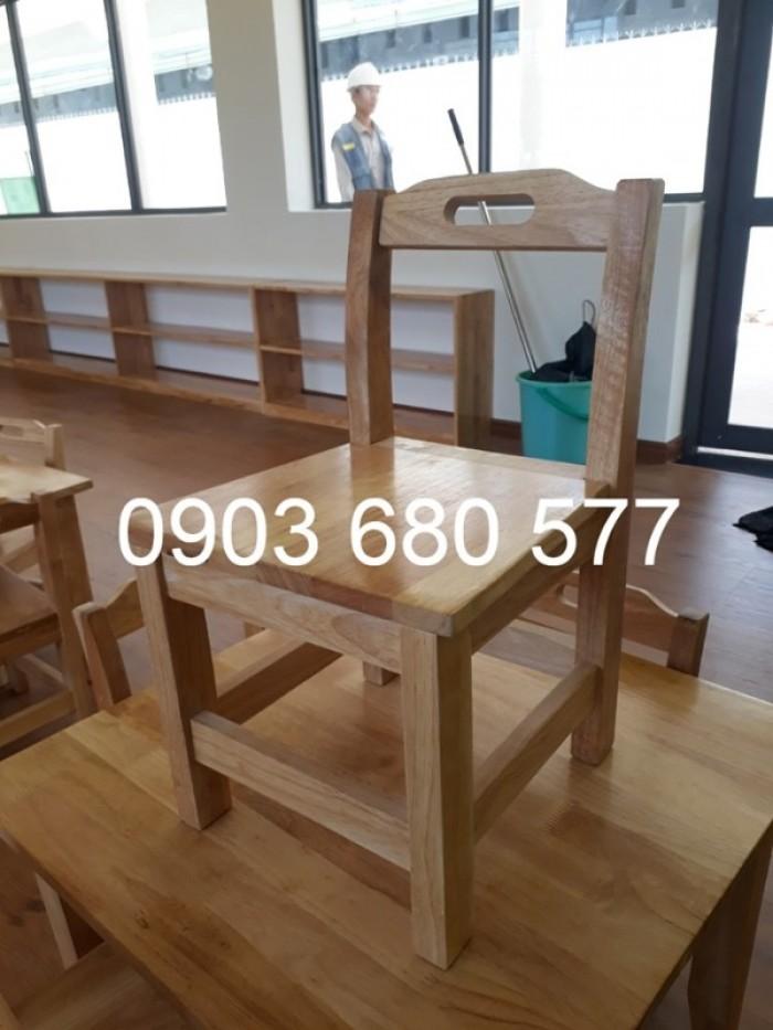 Cần bán bàn ghế gỗ trẻ em cho trường mầm non, lớp mẫu giáo, gia đình20