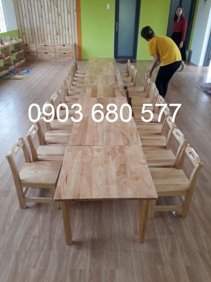 Cần bán bàn ghế gỗ trẻ em cho trường mầm non, lớp mẫu giáo, gia đình15