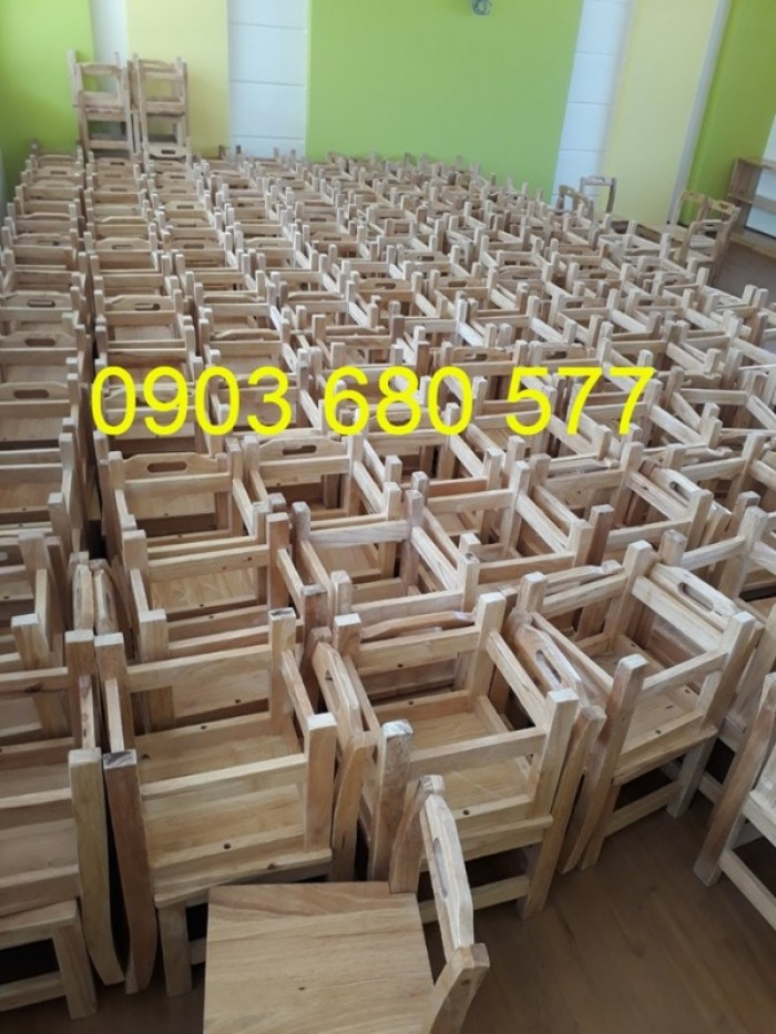 Cần bán bàn ghế gỗ trẻ em cho trường mầm non, lớp mẫu giáo, gia đình17