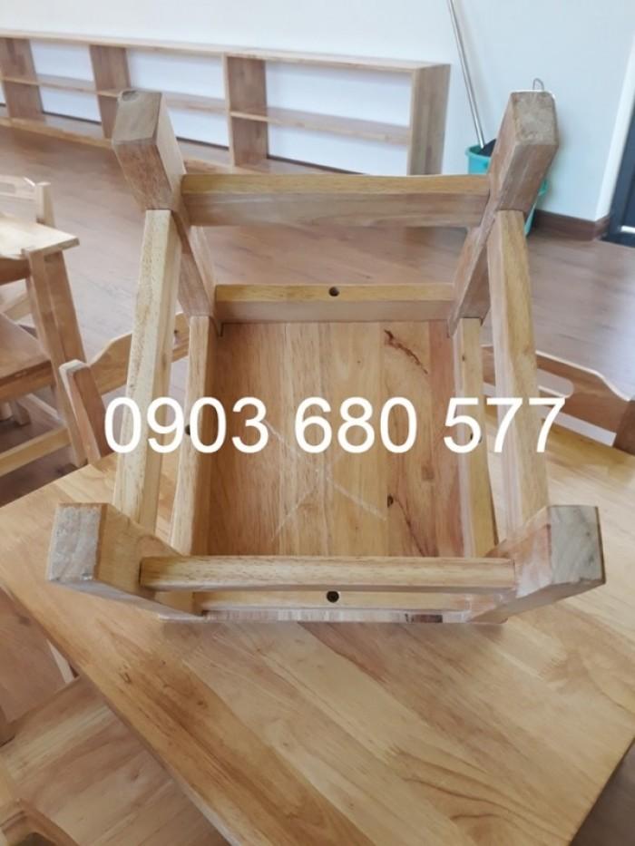 Cần bán bàn ghế gỗ trẻ em cho trường mầm non, lớp mẫu giáo, gia đình18