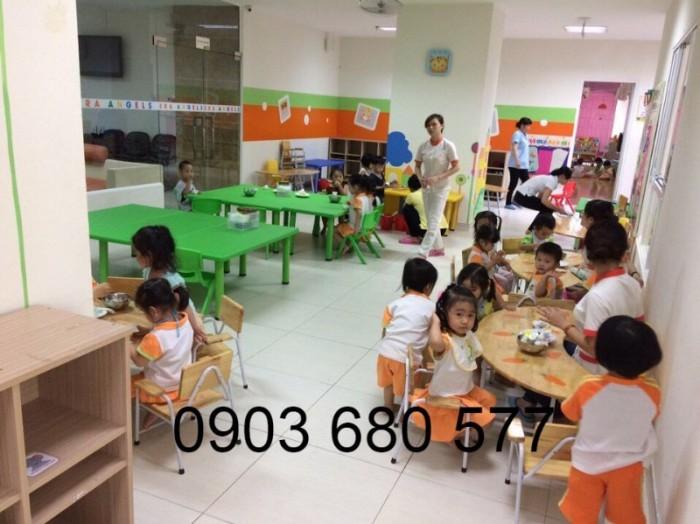 Cần bán bàn ghế gỗ trẻ em cho trường mầm non, lớp mẫu giáo, gia đình10