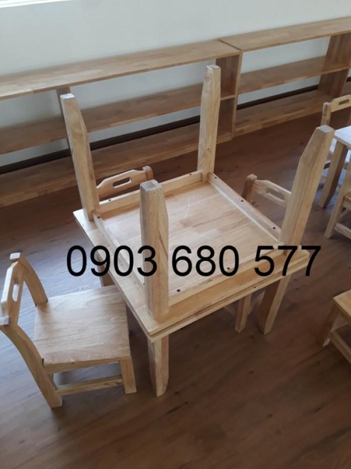 Cần bán bàn ghế gỗ trẻ em cho trường mầm non, lớp mẫu giáo, gia đình16