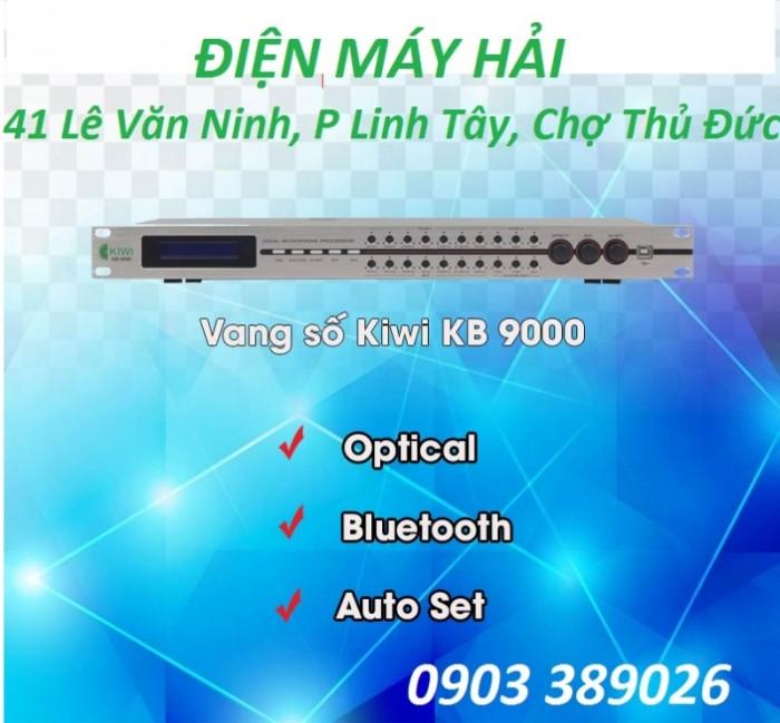 Vang số KB-9000 được thiết kế khá đặc biệt, có thể căn chỉnh thông qua phần mềm trên PC, đồng thời chỉnh được trực tiếp bằng tay trên vang3