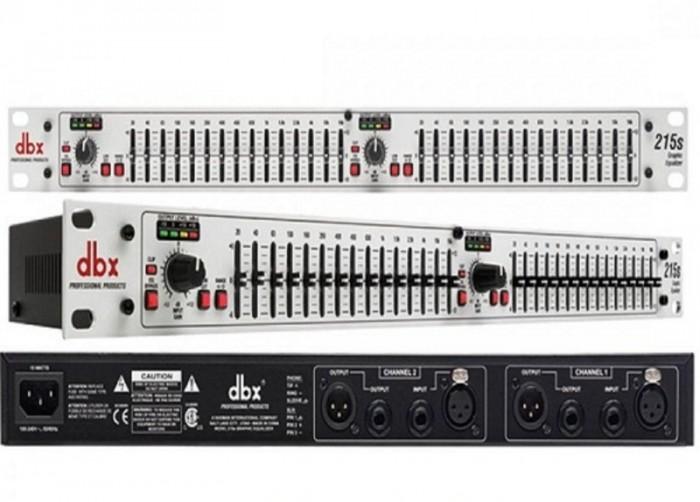 Equalizer DBX 215S sản phẩm tầm trung của DBX, được trang bị đầy đủ hiệu ứng âm thanh và mọi tính năng của các dòng Mixer lọc tiếng chuyên nghiệp.1
