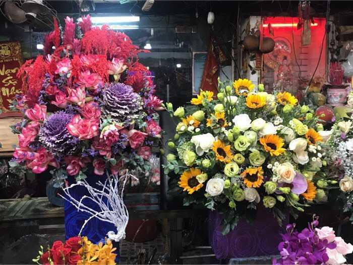 Lẵng hoa mừng thọ