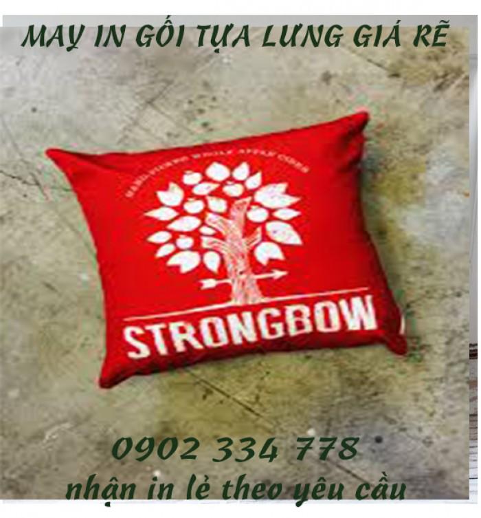 xưởng may gối quà tặng strongbow giá rẽ - xưởng may limac0