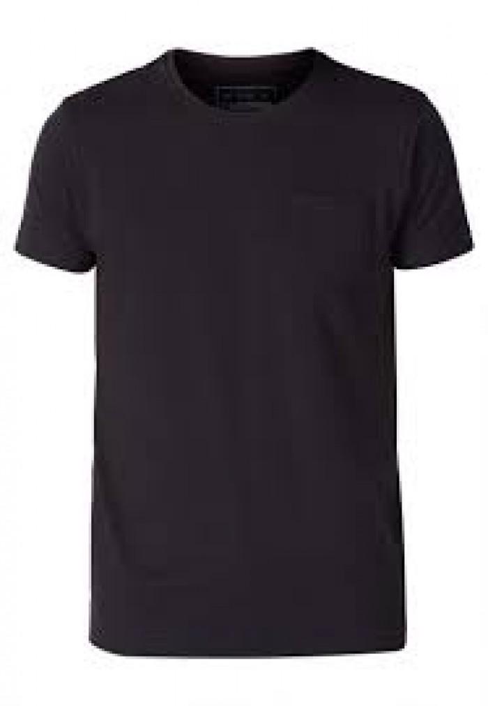 chuyên sỉ áo thun đen cổ tròn giá 20k - áo size người lớn1