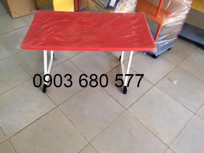 Cần bán bàn nhựa chữ nhật, gập chân được cho trường mầm non, gia đình8