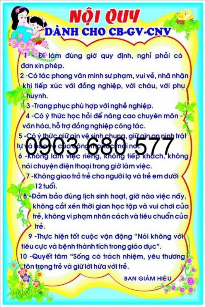 Cần bán bảng biểu, bảng tuyên truyền cho trường học, lớp học, phòng y tế, bếp ăn16