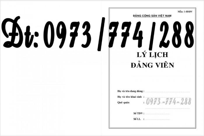 Lý lịch Đảng viên mẫu 1 - HSĐV bìa màu hình Búa Liềm1
