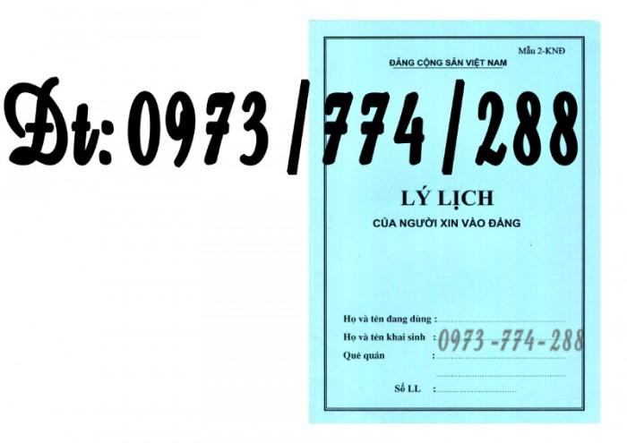 Lý lịch Đảng viên mẫu 1 - HSĐV bìa màu hình Búa Liềm6