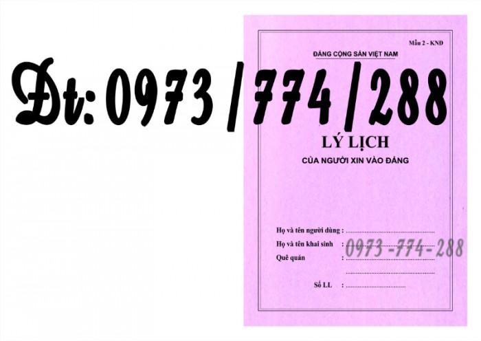 Lý lịch Đảng viên mẫu 1 - HSĐV bìa màu hình Búa Liềm8