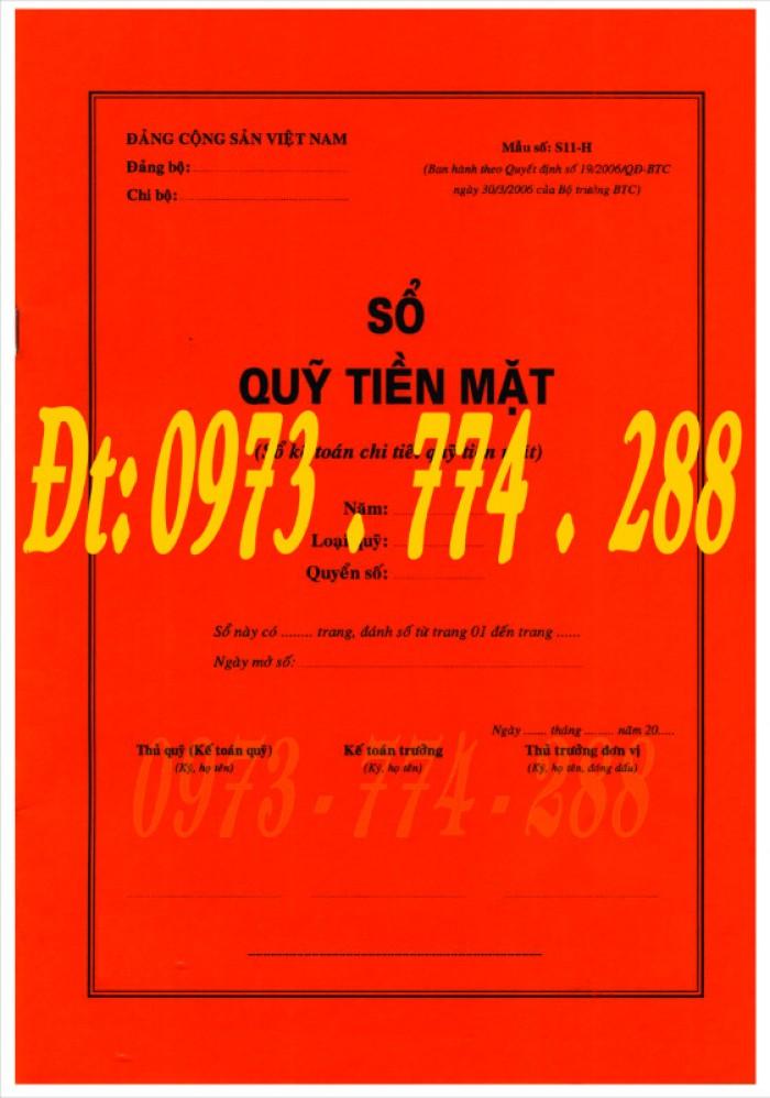 Sổ quỹ tiền mặt (mẫu số S11-H theo quyết định số 19/2006/QĐ-BTC)0