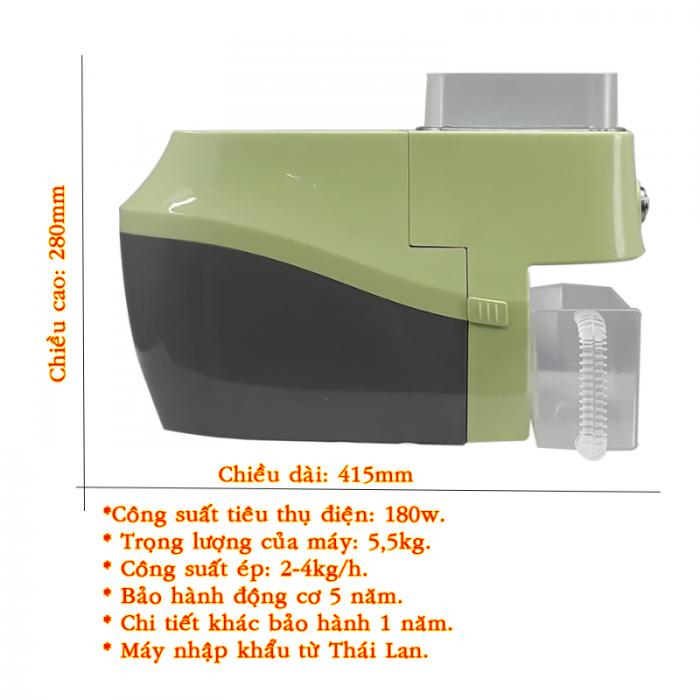 Máy ép dầu Nanifood Thái Lan NNF800A phiên bản xanh lá3