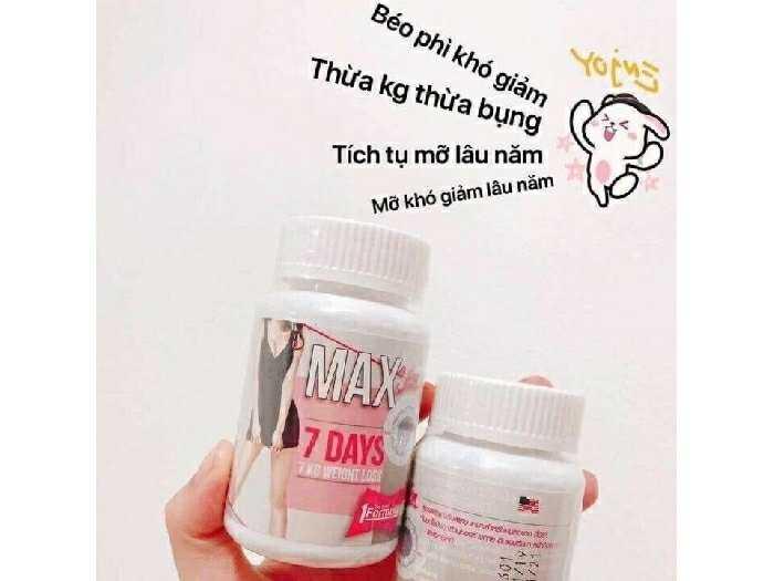 Viên uống giảm cân 7days Thái Lan1