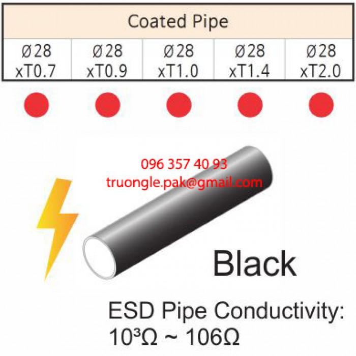 Ống thép bọc nhựa chống dẫn nhiệt có độ dẫn nhiệt bề mặt thấp (103Ω – 106Ω).  Được dùng trong môi trường có yêu cầu độ chống dẫn nhiệt. Đảm bảo an toàn cho người sử dụng và hạn chế lỗi của sản phẩm.1