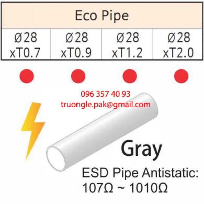Ống thép bọc nhựa chống tĩnh điện có điện trở bề mặt thấp (107Ω – 1010Ω).  Được dùng trong môi trường có yêu cầu độ chống tĩnh điện. Đảm bảo an toàn cho người sử dụng và hạn chế những lỗi sản phẩm do tích điện.4