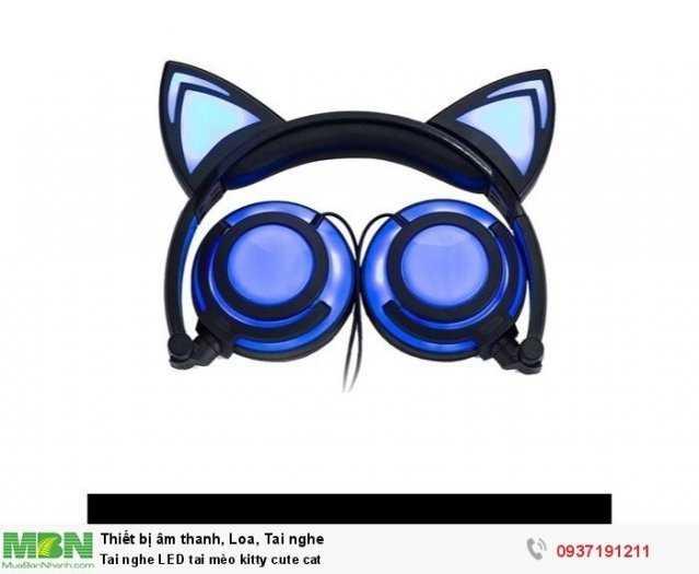 Tai nghe LED tai mèo kitty cute cat3