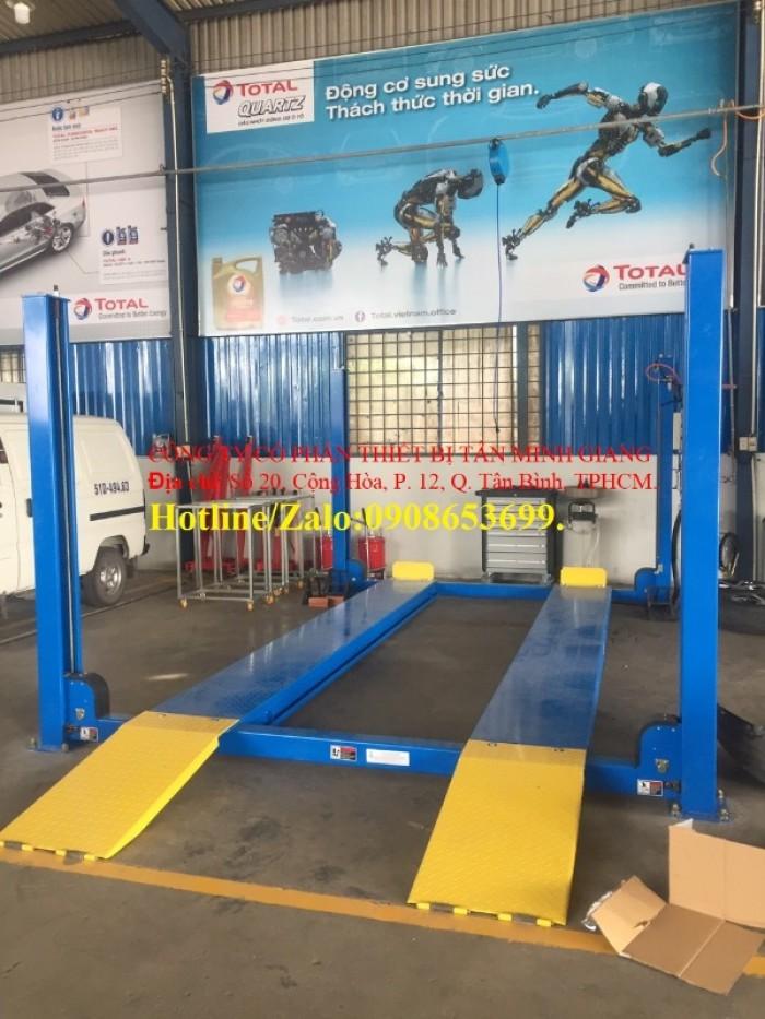 Cầu nâng 4 trụ kiểm tra góc lái,hàng chính hãng ,có sẵn,giá rẻ toàn quốc.2