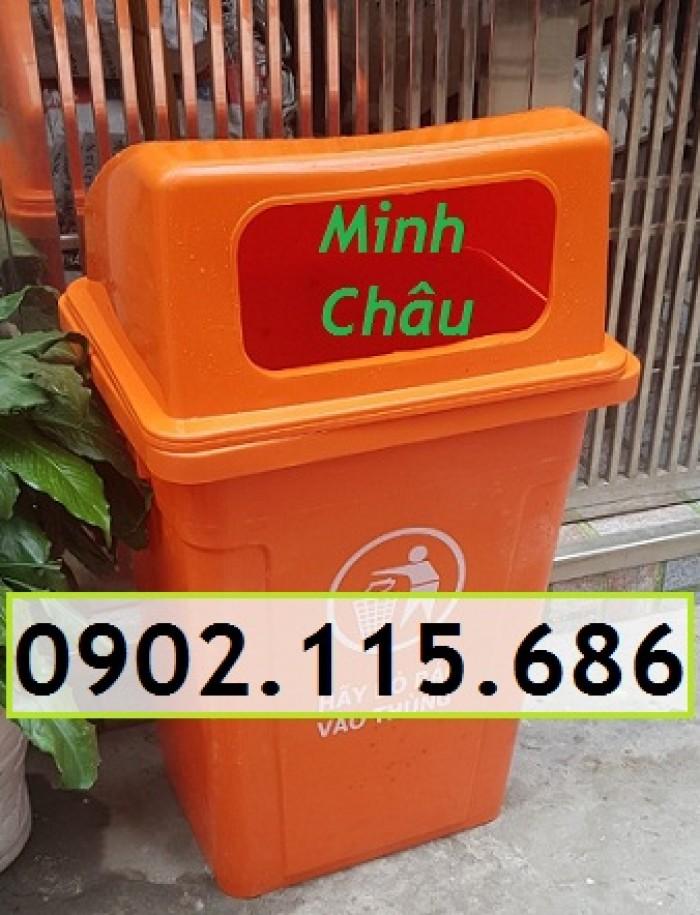 Thùng rác công cộng 90L, thùng rác nhựa 90L nắp hở, thùng rác 90L nắp hở, thùng rác nhựa HDPE 90L,2