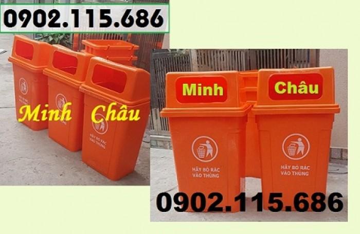 Thùng rác công cộng 90L, thùng rác nhựa 90L nắp hở, thùng rác 90L nắp hở, thùng rác nhựa HDPE 90L,1