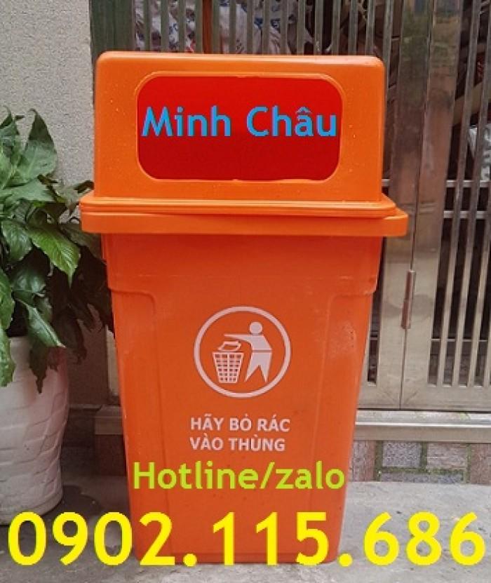 Thùng rác công cộng 90L, thùng rác nhựa 90L nắp hở, thùng rác 90L nắp hở, thùng rác nhựa HDPE 90L,0
