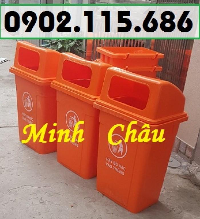 Thùng rác công cộng 90L, thùng rác nhựa 90L nắp hở, thùng rác 90L nắp hở, thùng rác nhựa HDPE 90L,4