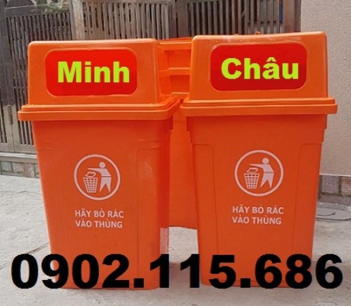 Thùng rác công cộng 90L, thùng rác nhựa 90L nắp hở, thùng rác 90L nắp hở, thùng rác nhựa HDPE 90L,3
