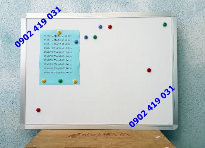 Bảng Từ Trắng Viết Bút Lông 60x80cm [ Bảng hít nam châm ]
