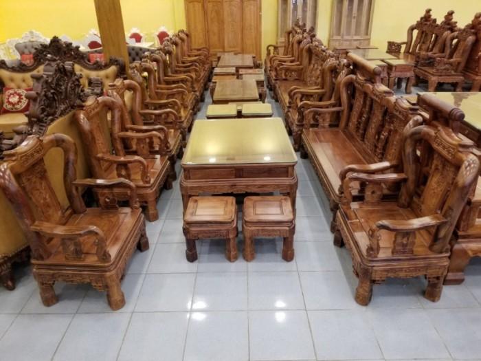 Bộ Bàn Ghế Minh QUốc Triện Tay 10- 10 Món | Gỗ Cẩm Lai Xịn Giá Giảm 15%0
