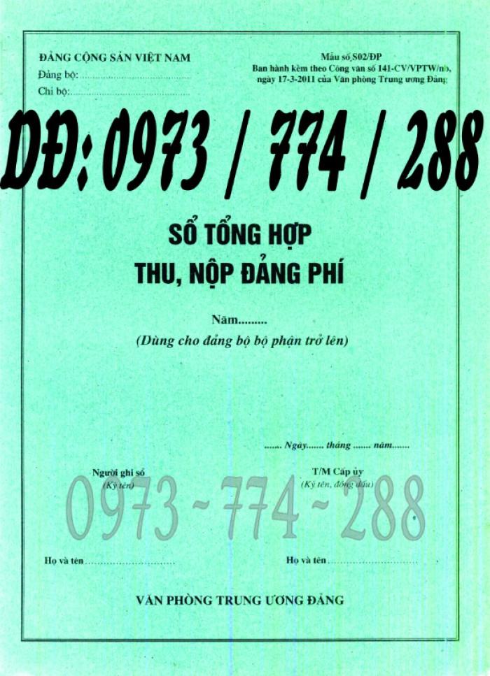Quyển sổ thu nộp đảng phí mẫu chuẩn2
