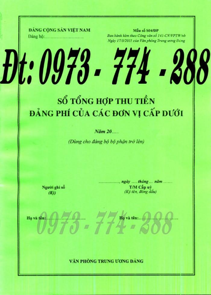 Quyển sổ thu nộp đảng phí mẫu chuẩn4