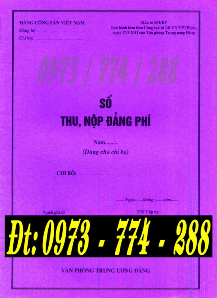Mua sổ thu nộp Đảng phí (Mẫu số s01/ĐP)0