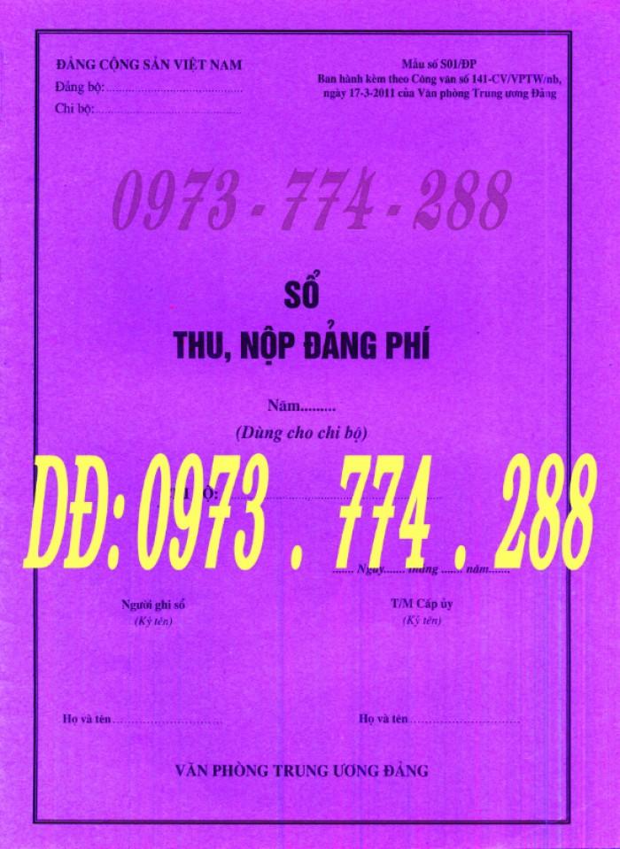 Mua sổ thu nộp Đảng phí (Mẫu số s01/ĐP)1