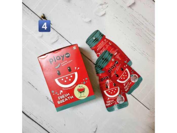Hộp 12 gói kẹo play more thái lan (12gram) - vị dưa hấu0
