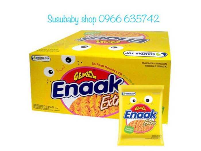 Combo Snack enaak 6 hộp (gồm 144 gói vị gà/30gr)0
