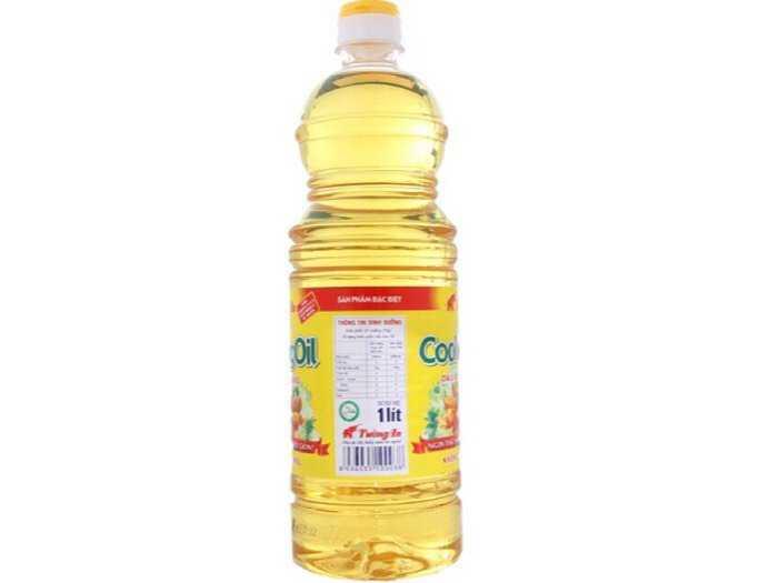 Dầu ăn thực vật Tường An cooking oil chai 1 lít1