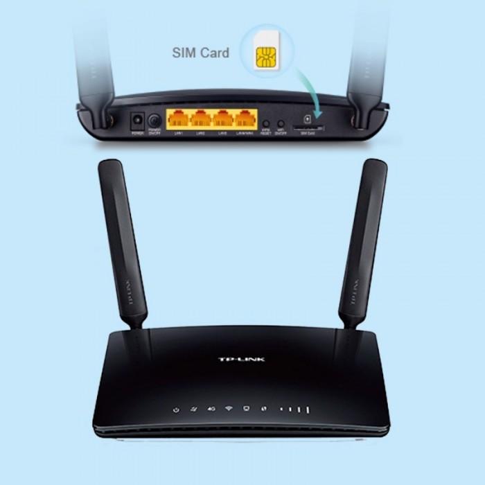 Router wifi sim 4G LTE TP-Link TL-MR6400 chuẩn N, tốc độ 300Mbps chính hãng4