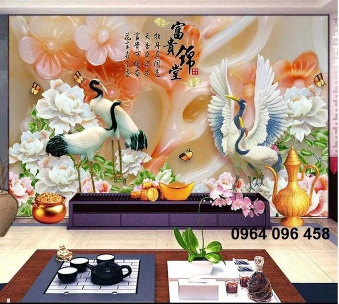 tranh ngọc 3d phòng khách k042