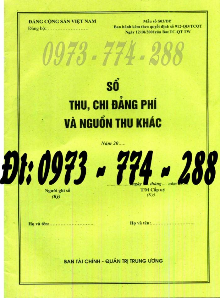 Sổ tổng hợp thu tiền Đảng phí của các đơn vị cấp dưới - Văn phòng trung ương đảng8