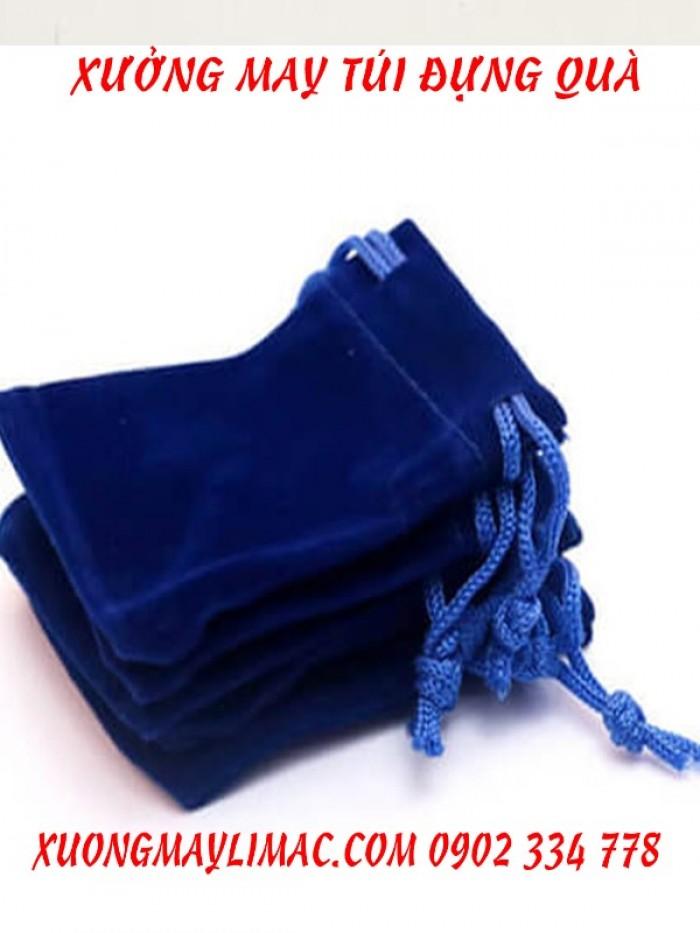 túi dây rút màu xanh biển đựng ngọc trai , trang sức , nữ trang ,túi dây rút màu vàng đựng vàng , nhẫn , vòng , dây chuyển