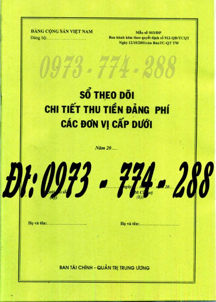 Quyển sổ tổng hợp thu tiền Đảng phí của các đơn vị cấp dưới (Mẫu số S04/ĐP)1