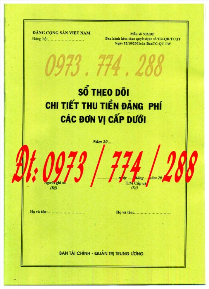 Bán quyển sổ theo dõi chi tiết thu tiền đảng phí các đơn vị cấp dưới0