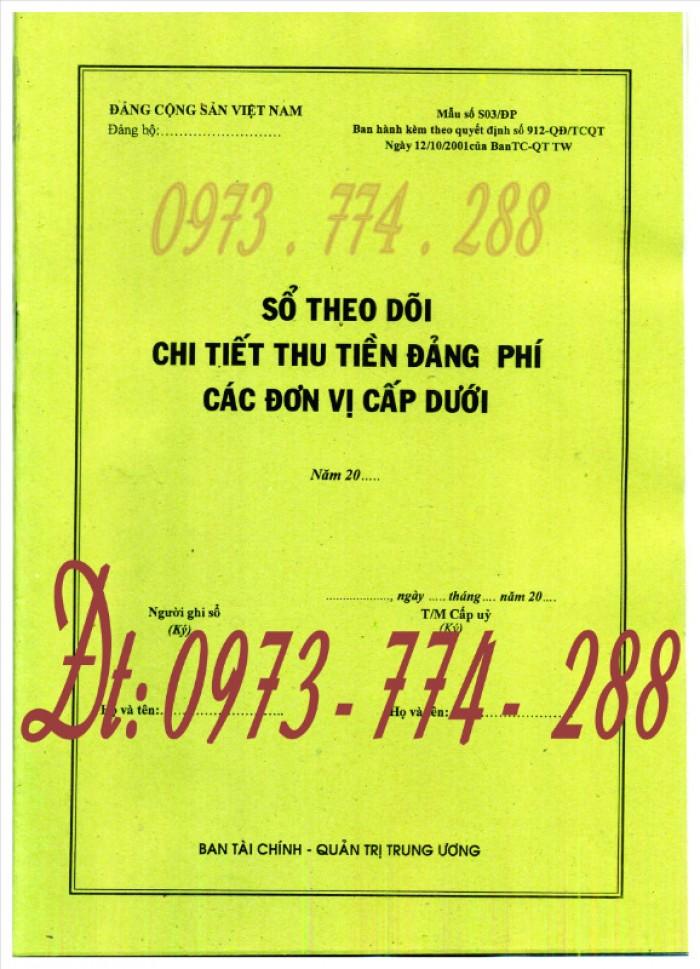 Bán sổ theo dõi chi tiết thu tiền Đảng phí các đơn vị cấp dưới (Mẫu số S03/ĐP)0