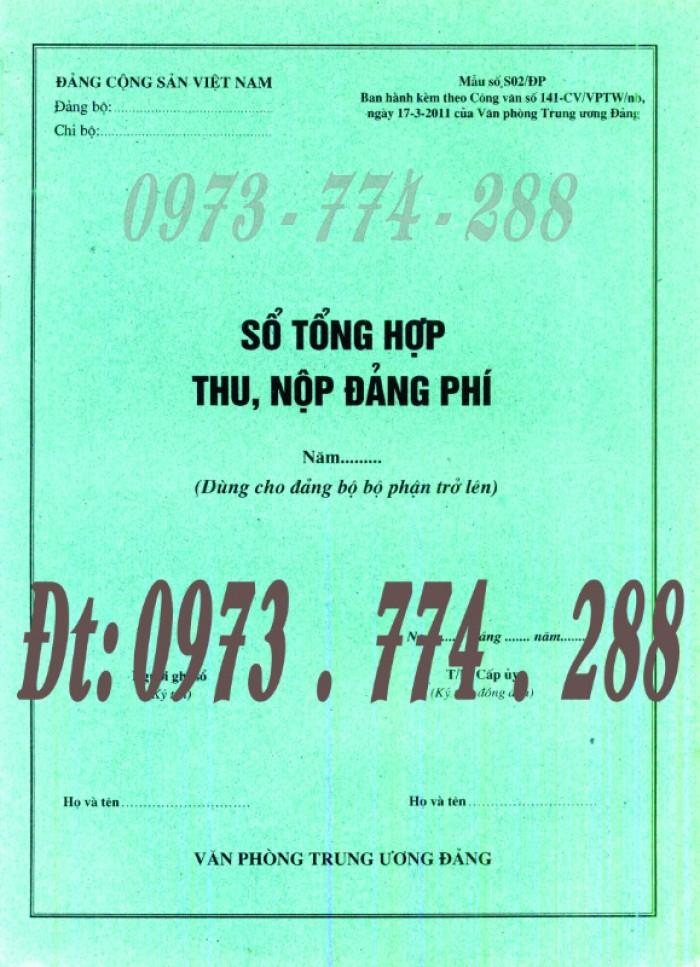 Bán sổ theo dõi chi tiết thu tiền Đảng phí các đơn vị cấp dưới (Mẫu số S03/ĐP)8
