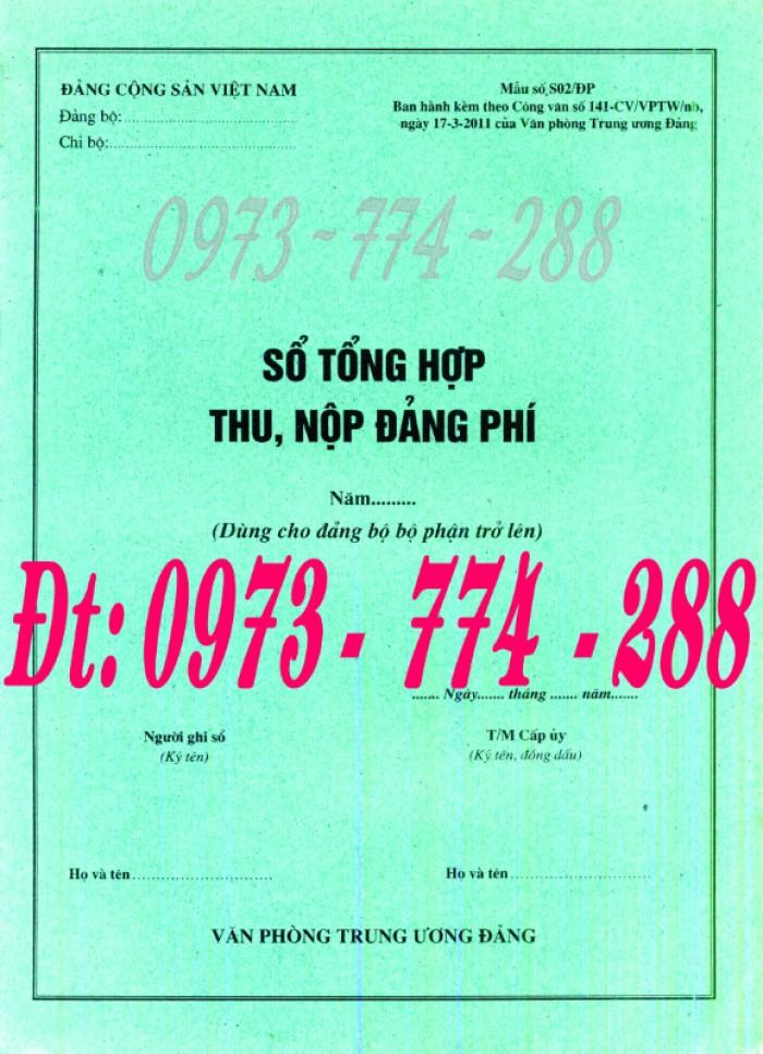 Bán cuốn sổ theo dõi chi tiết thu tiền Đảng phí2
