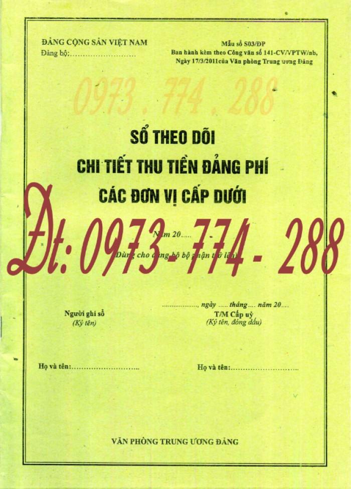 Sổ theo dõi chi tiết thu tiền Đảng phí các đơn vị cấp dưới - Dùng cho Đảng bộ bộ phận trở lên0